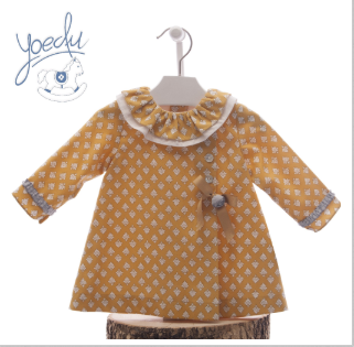 7c38fd9d1dcd W18Y14 Yoedu Mustard Wrap Dress with Frill Collar – Buttoned Up ...