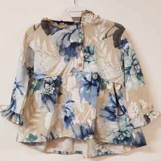 d4ae21f99fda W18BO10 Bogoleta Jacket in Blue   Beige Floral Print