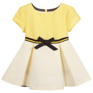 2d31d406bd S19TP11 Tutto Piccolo Yellow Dress with Black Belt