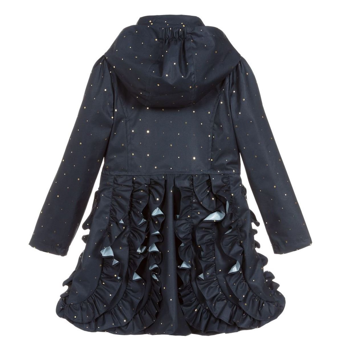 663a839d9da1 S19LC3 Le Chic Navy Blue Ruffle Coat with Gold Dots – Buttoned Up ...